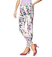 Hue Modern Twill Rose Leggings 17466